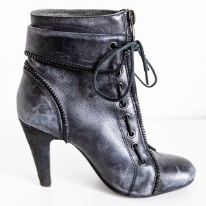 Bronx leather ankle boots - black/gray - Size 36/6